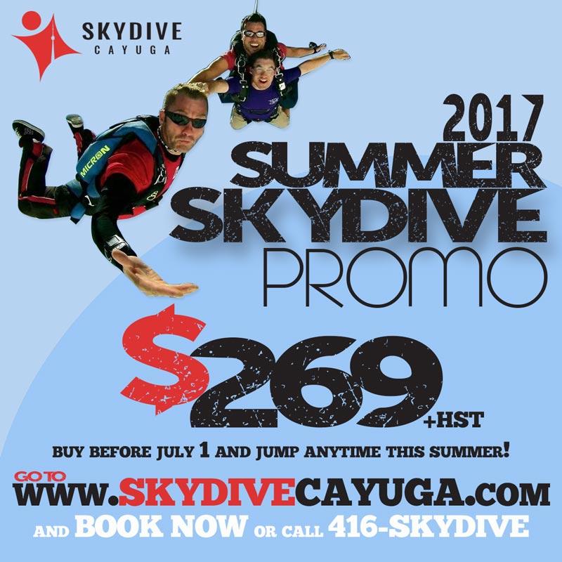 Skydive Promo Social Media